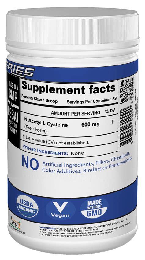 acetyl cysteine nac   india nutrija supplement store