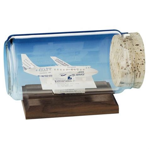 Jets Gift Card - jet plane business cards in a bottle sculpture wholesale china
