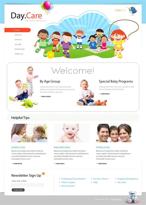 Day Care Website Template 28940 Child Care Website Template