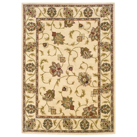 nature area rugs shop weavers of america ivory rectangular indoor woven nature area rug common