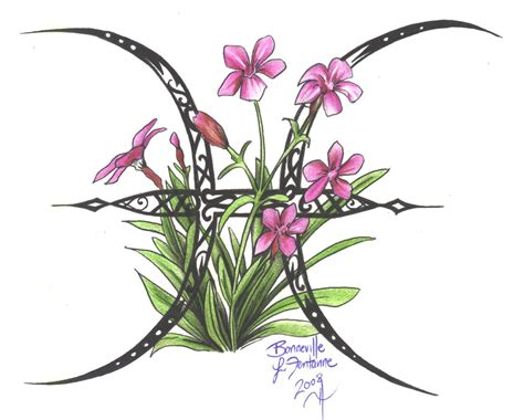 pisces flower tattoo designs zodiac flower design pisces by d angeline on deviantart