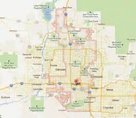Map Of Phoenix Az by Phoenix Tourist Map