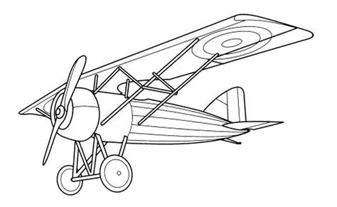 Print Download The Sophisticated Transportation Of Wright Brothers Coloring Page