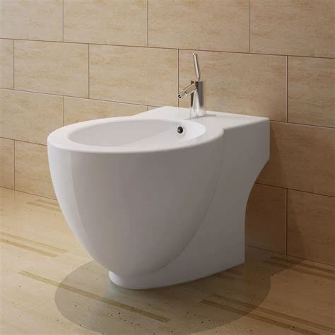 On Bidet by Vidaxl Co Uk White Ceramic Toilet Bidet Set