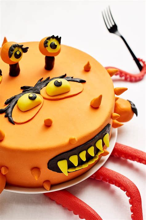 monster themed diy fondant birthday cake decorating kit cakest