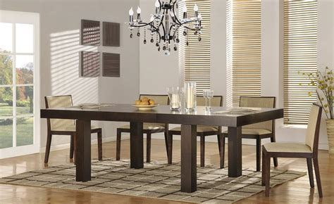 Contemporary Extendable 5 Pc Dinner Set Augusta Richmond Designer Dining Furniture