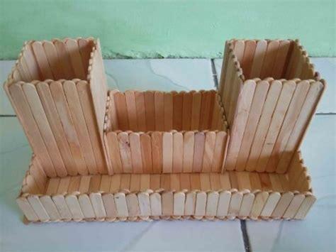 Kancing Kayu Tongkat Prakarya Kerajinan Tangan 4 kerajinan tangan dari stik es krim