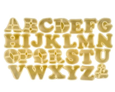 Gift Letter Calyx Alphabet Cookie Cutters