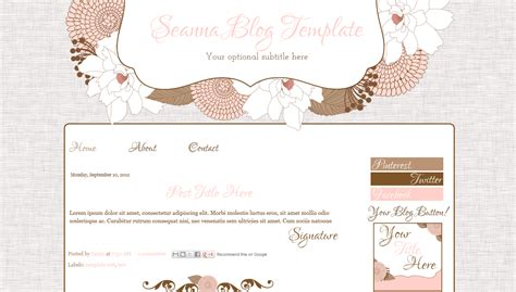 templates blogger modern cute pink modern blog template juliana bd web studio