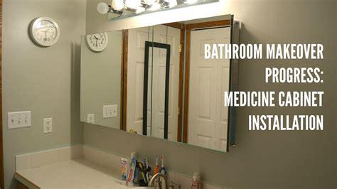 bathroom update medicine cabinet installation youtube
