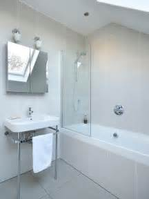Danish tub shower combo photo in other with a console sink an alcove