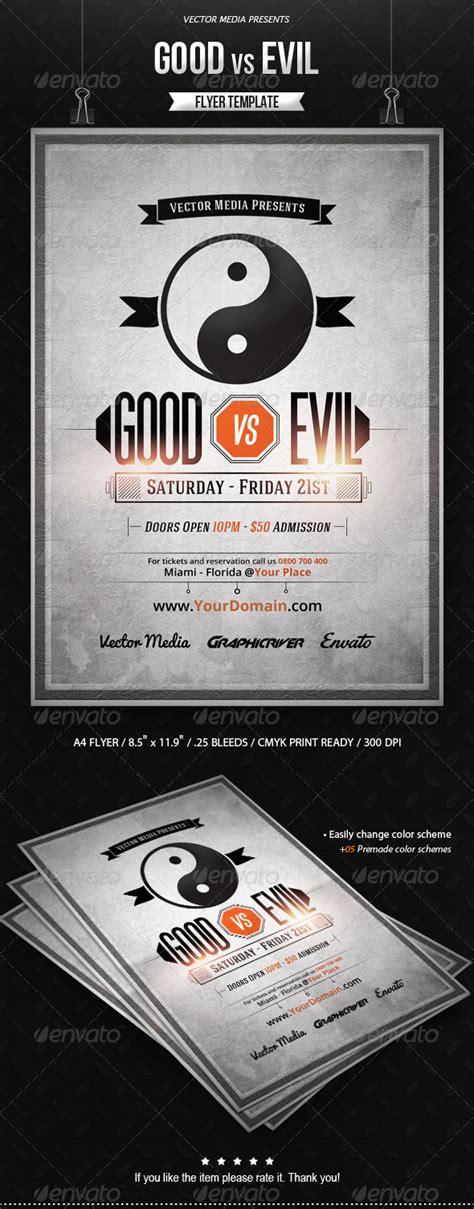 Print Template Graphicriver Good Vs Evil Flyer 8741011 187 Dondrup Com Graphicriver Flyer Template