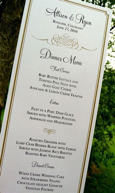 your own wedding menu cards wedding menu cards gold menus blue menus flourish menus wedding stationery choose your own