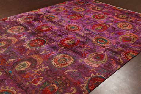 ikat rug 8x10 rugsville ikat rust sari silk 30013 8x10 rug rugsville shopping great deals on