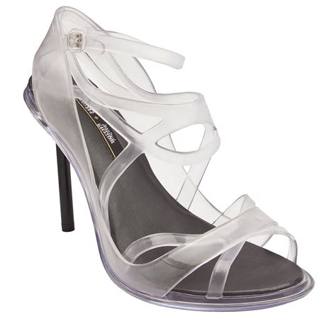 jean paul gaultier strappy heel in white black lyst