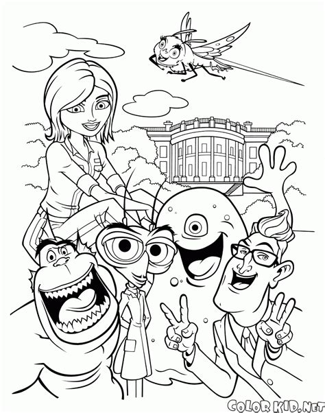 coloring book vs views coloring page monsters vs aliens