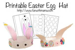 easter hat template printable printable easter egg and bunny hat with