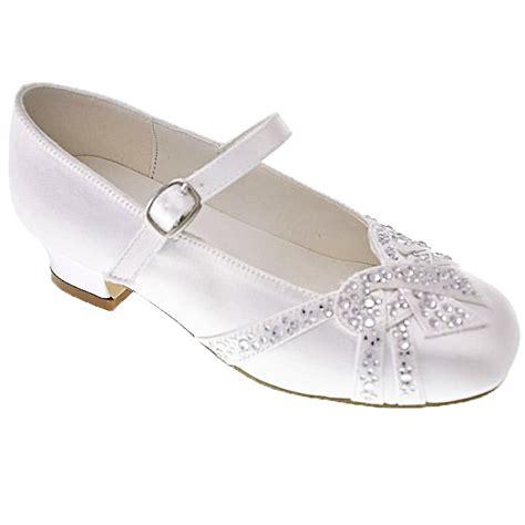 holy communion shoes diamantes on large bow holy communion shoes
