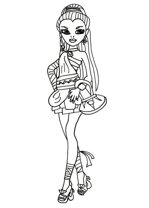 monster high coloring pages nefera de nile pin by dana sills on coloring page pinterest