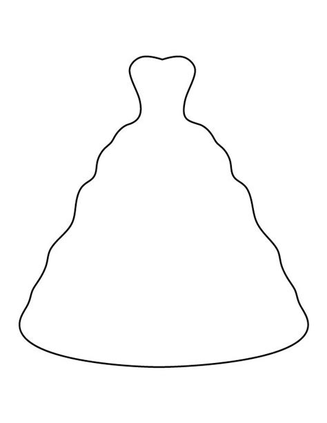 Wedding Dress Outline by Wedding Dress Pattern Use The Printable Outline For