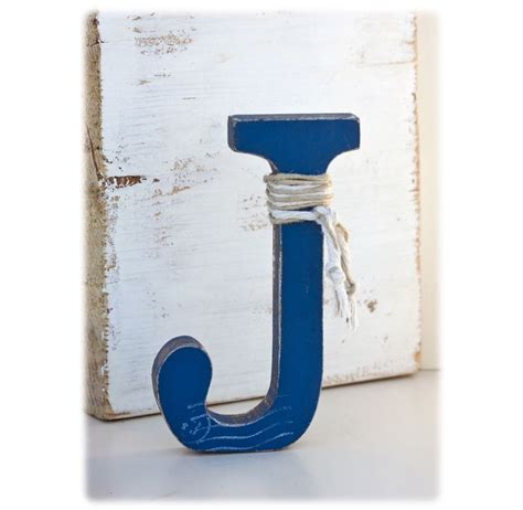 Gift Ideas Letter J Rustic Decorative Letter J Stand Alone Nursery Letter Boy Nautical Wedding Cake Topper