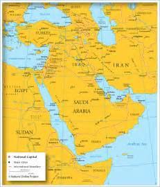 Map Of Middle East by Map Of Middle East And Asia Slowcatchup