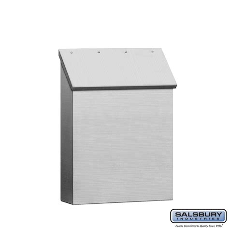 stainless steel mailbox salsbury industries 4520 standard vertical wall mount