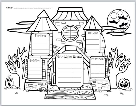 design graphic organizers free quot haunted house story elements quot graphic organizer house
