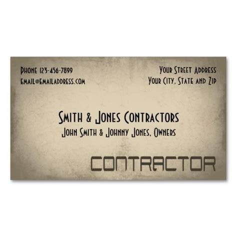 General Contractor Business Card Templates