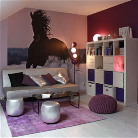 chambre cheval fille chambre d 39 ado violette apr 232 s deco