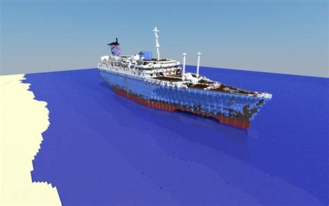 minecraft u boat map ss american star wreck creation 10829