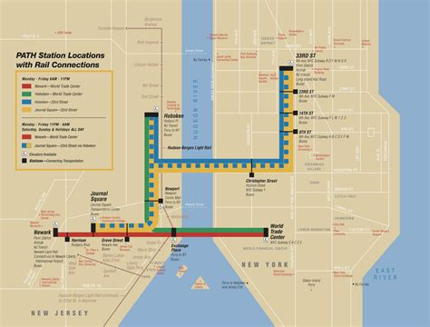 printable street map of hoboken nj map of nyc commuter rail stations lines