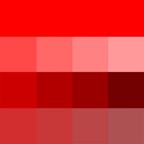 shaeds of red red hue tints shades tones red pinterest shades