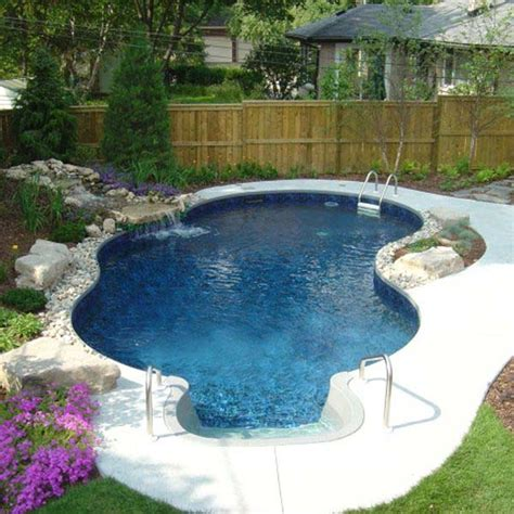 28 Fabulous Small Backyard Designs With Swimming Pool Small Backyard Inground Pools