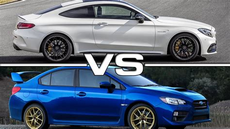 Subaru Coupes by 2017 Mercedes Amg C63 S Coupe Vs 2015 Subaru Wrx Sti