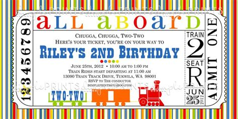 9 train birthday invitations for kid free printable