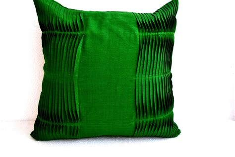 Picture Throw Pillow - emerald green pillow cover cotton throw pillow cover accent