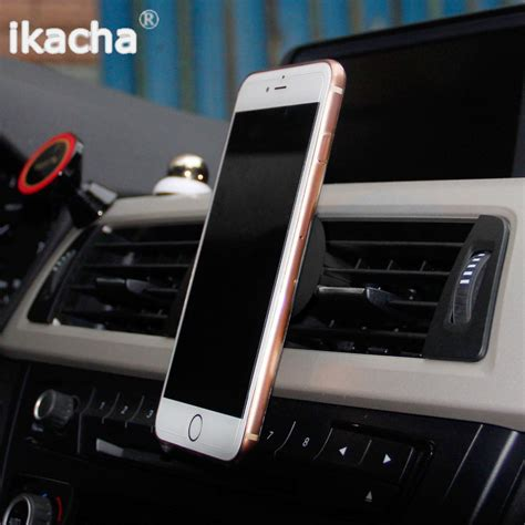 360 Degrees Mobile Car Holder With Iphone 6 6 7 7 Original 360 degree universal car holder magnetic air vent mount