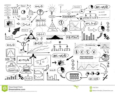 imagenes a blanco y negro de matematicas black and white drawing of many different business