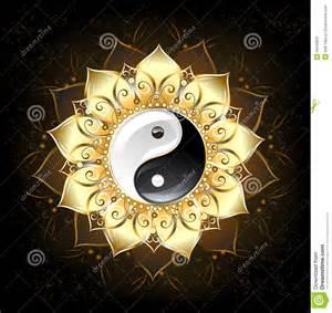 Golden Lotus Meaning Yin Yang Golden Lotus Stock Vector Image 40546829
