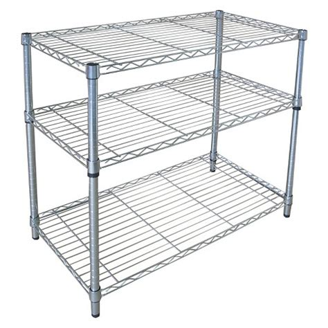 adjustable width shelving adjustable 3 tier wide wire shelving chrome target