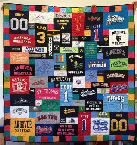 Quilts Made From Sports Jerseys by 16 Best Images About T Shirt Quilts With Border On