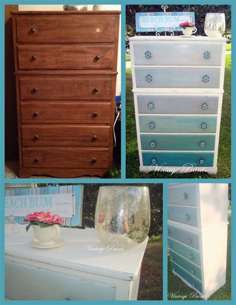 shades of blue ombre chest of drawers dresser changing 113 best images about fazer on pinterest