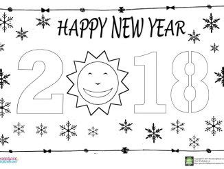 happy new year coloring pages preschool happy new year coloring page for kids archives
