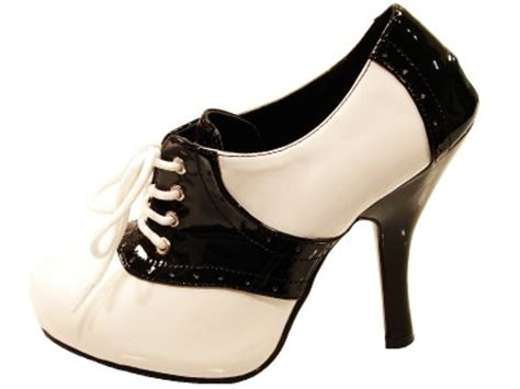 high heel saddle shoes pleaser shoes funtasma costume collecton sad48b w high