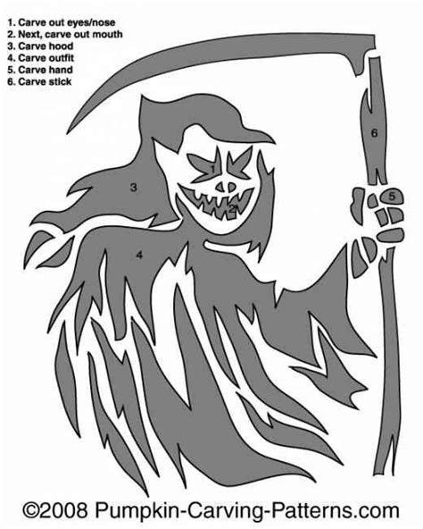 printable grim reaper pumpkin stencils 90 best pumpkin carving stencils images on pinterest