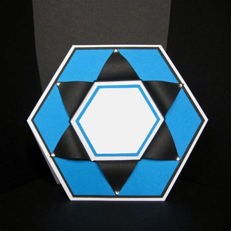 Hexgonal Card Template by Hexagon Shaped Card Template