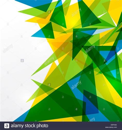 brazil flag colors abstract geometry background with brazil flag colors stock