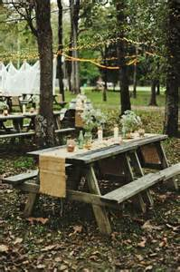 25 best ideas about picnic table wedding on