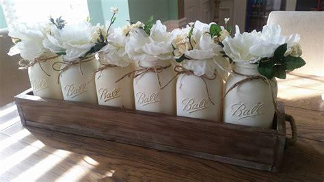 jar centerpieces for jar centerpiece jar table decor rustic